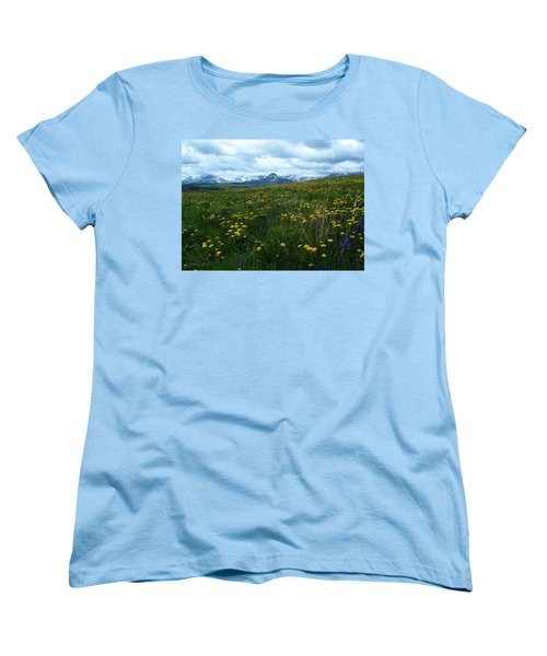 Spring Flowers On The Front Women's T-Shirt (Standard Cut)