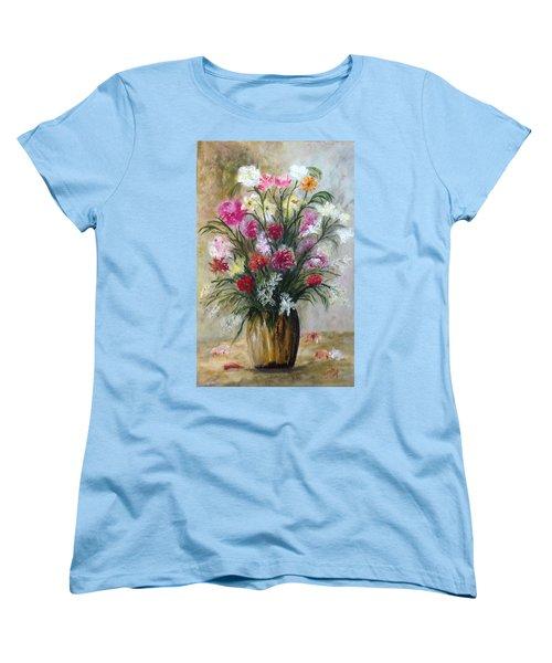 Spring Flowers Women's T-Shirt (Standard Cut) by Renate Voigt