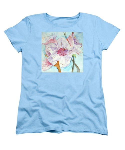 Women's T-Shirt (Standard Cut) featuring the painting Spring by Jasna Dragun