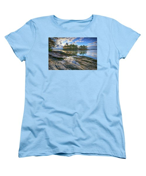 Spring Morning At Wolfe's Neck Woods Women's T-Shirt (Standard Cut) by Rick Berk