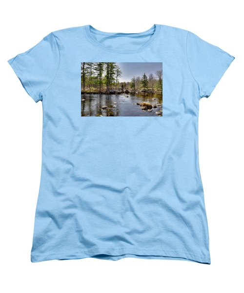 Women's T-Shirt (Standard Cut) featuring the photograph Spring Near Moose River Road by David Patterson