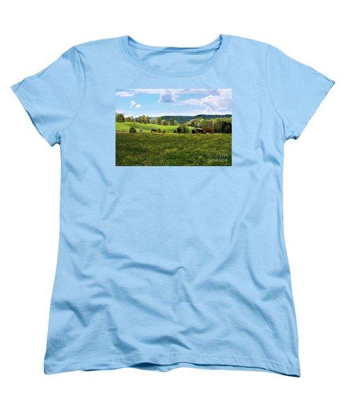 Spring Pastureland Women's T-Shirt (Standard Cut) by Paul Mashburn