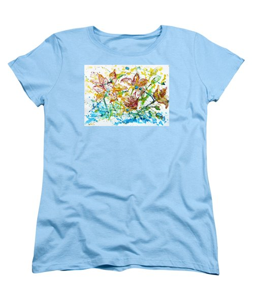 Spring Rhapsody Women's T-Shirt (Standard Cut) by Jasna Dragun
