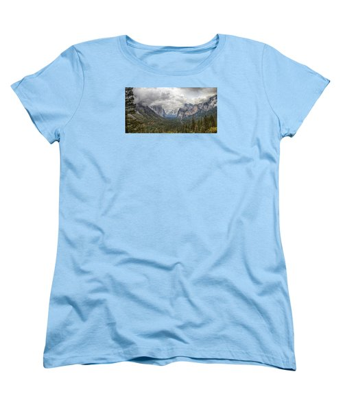 Women's T-Shirt (Standard Cut) featuring the photograph Spring Storm Yosemite by Harold Rau