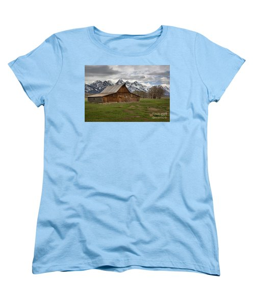 Spring Storms Over The Moulton Barn Women's T-Shirt (Standard Cut) by Adam Jewell