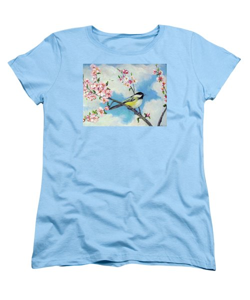 Women's T-Shirt (Standard Cut) featuring the painting Spring's Promise by Donna Tucker