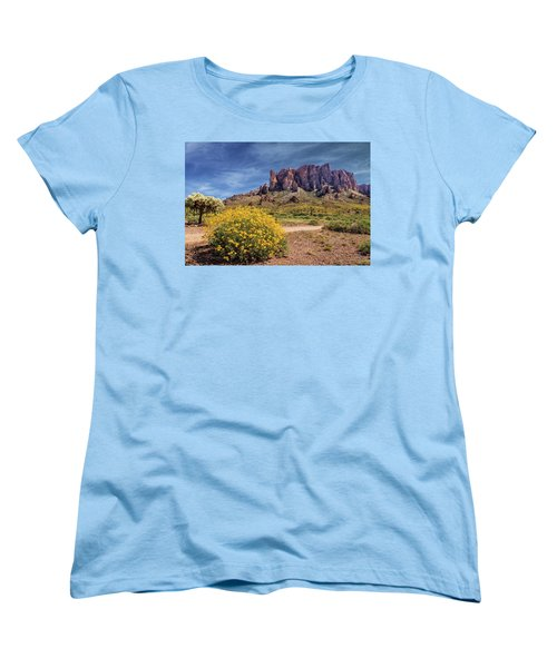 Women's T-Shirt (Standard Cut) featuring the photograph Springtime In The Superstition Mountains by James Eddy