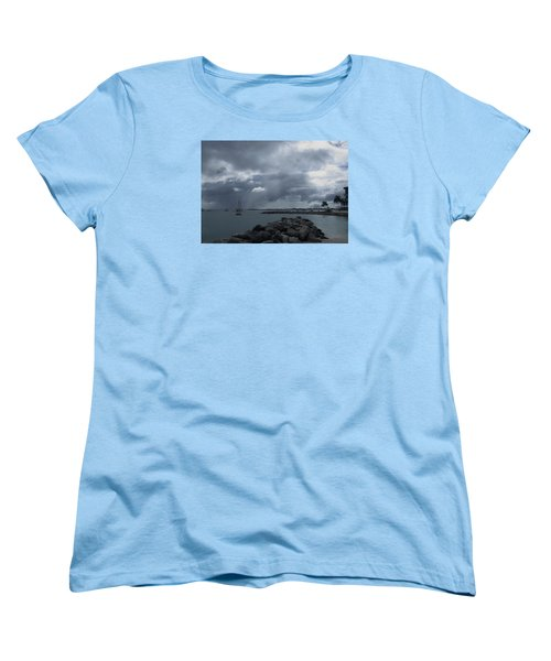 Squall In Simpson Bay St Maarten Women's T-Shirt (Standard Cut) by Christopher Kirby