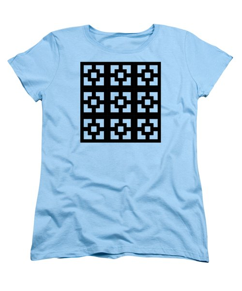 Women's T-Shirt (Standard Cut) featuring the digital art Squares Multiview by Chuck Staley