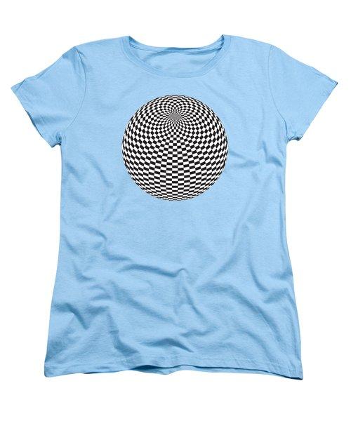 Squares On The Ball Women's T-Shirt (Standard Cut) by Michal Boubin