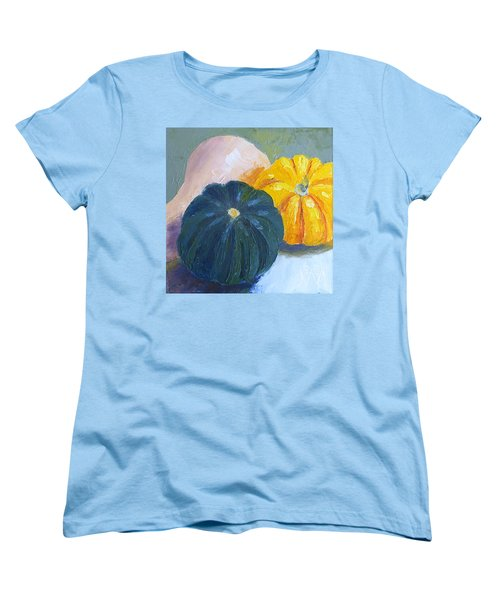 Squash Trio Women's T-Shirt (Standard Cut) by Susan Woodward