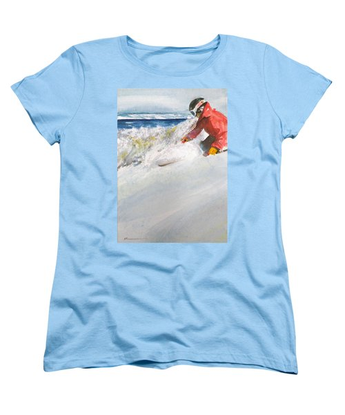 Beaver Creak Women's T-Shirt (Standard Cut) by Ed Heaton