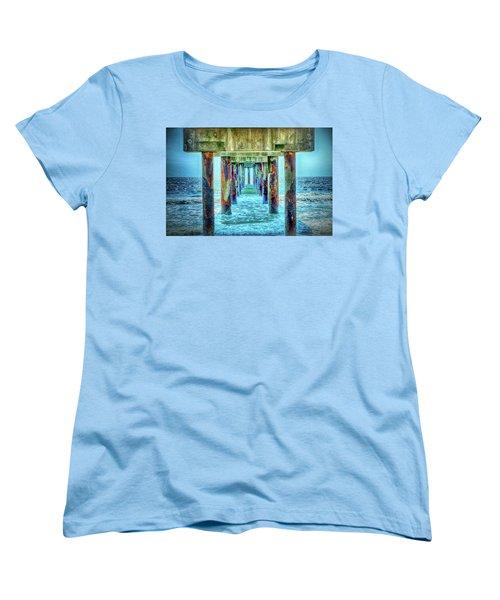 Women's T-Shirt (Standard Cut) featuring the photograph St. Augustine Beach by Louis Ferreira