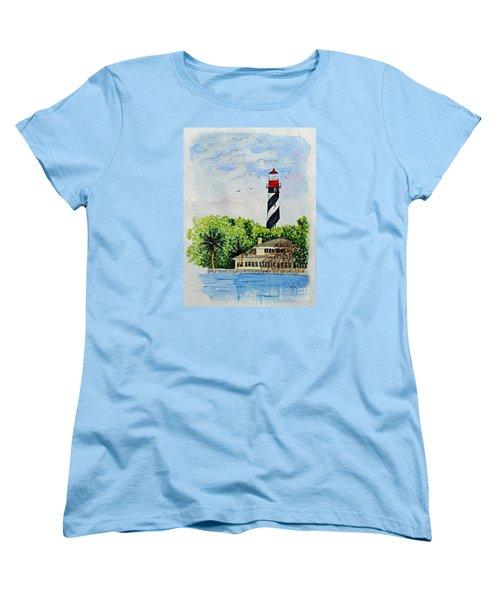 St Augustine Lighthouse  Women's T-Shirt (Standard Cut) by Terri Mills