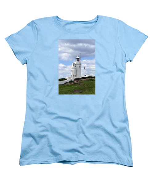 Women's T-Shirt (Standard Cut) featuring the photograph St. Catherine's Lighthouse On The Isle Of Wight by Carla Parris