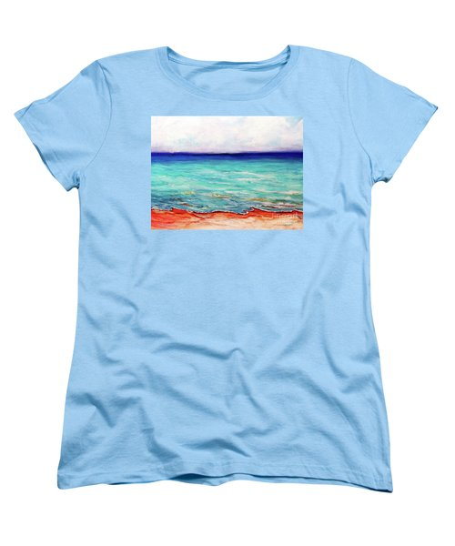 Women's T-Shirt (Standard Cut) featuring the painting St. George Island Breeze by Ecinja Art Works