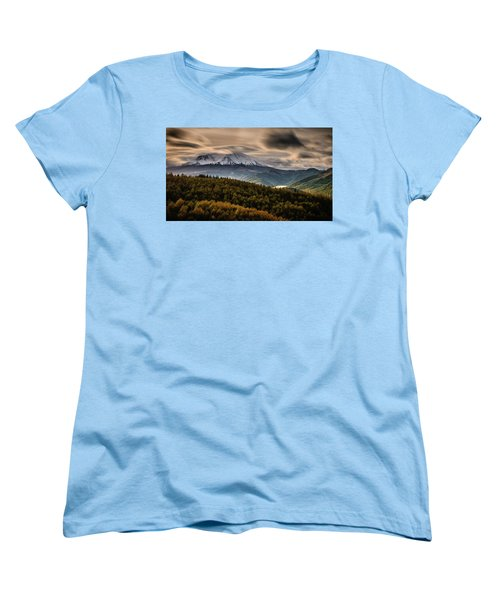 Women's T-Shirt (Standard Cut) featuring the photograph St. Helens Wrath by Dan Mihai