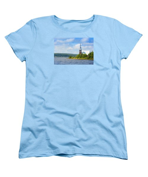 St Marks In Middle Lahave Nova Scotia Women's T-Shirt (Standard Cut) by Ken Morris