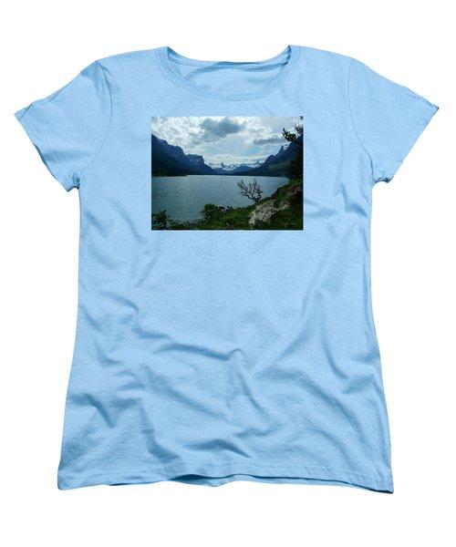 St Mary Lake, Incoming Storm Women's T-Shirt (Standard Cut)