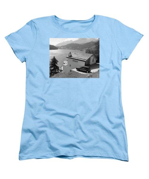 Women's T-Shirt (Standard Cut) featuring the photograph St Moritz by Jim Mathis