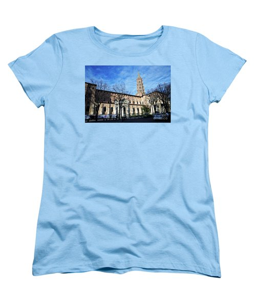 St Sernin Basilica Women's T-Shirt (Standard Cut) by Cendrine Marrouat