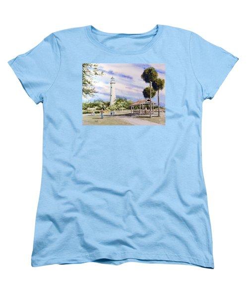St. Simons Island Lighthouse Women's T-Shirt (Standard Cut) by Sam Sidders
