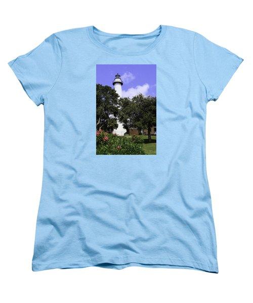 St Simons Isle Lighthouse Women's T-Shirt (Standard Cut) by Elizabeth Eldridge