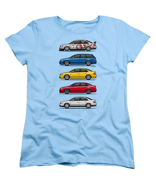 Stack Of Audi A4 B5 Type 8d Women's T-Shirt (Standard Cut) by Monkey Crisis On Mars