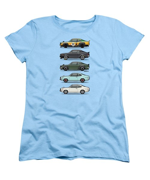 Stack Of Mazda Savanna Gt Rx-3 Coupes Women's T-Shirt (Standard Cut) by Monkey Crisis On Mars