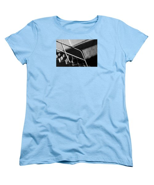 Stair Wall And Shadows Women's T-Shirt (Standard Cut) by Catherine Lau