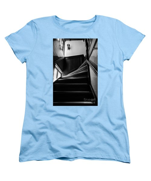Women's T-Shirt (Standard Cut) featuring the photograph Stairway In Amsterdam Bw by RicardMN Photography