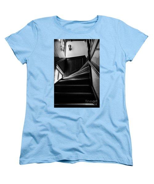 Stairway In Amsterdam Bw Women's T-Shirt (Standard Cut) by RicardMN Photography