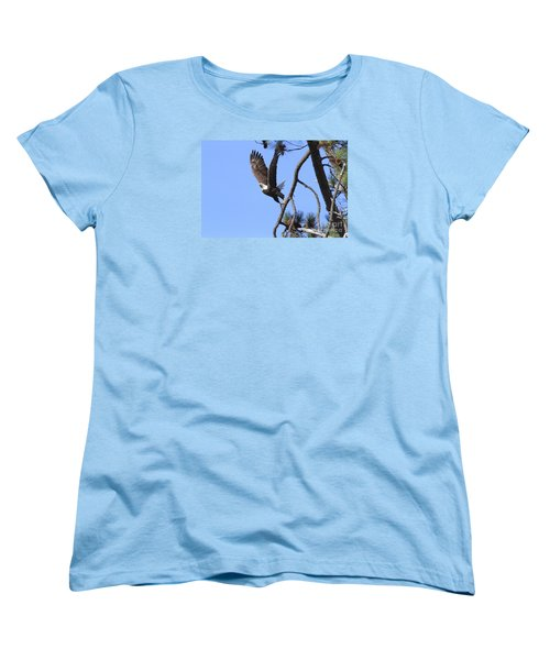 Women's T-Shirt (Standard Cut) featuring the photograph Standing Eagle by Geraldine DeBoer