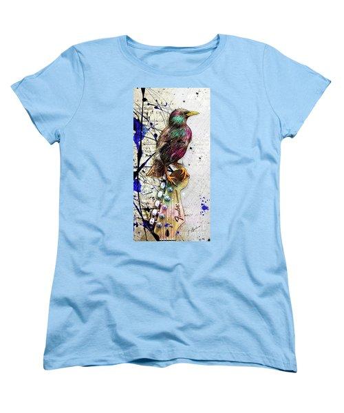 Starling On A Strat Women's T-Shirt (Standard Cut)