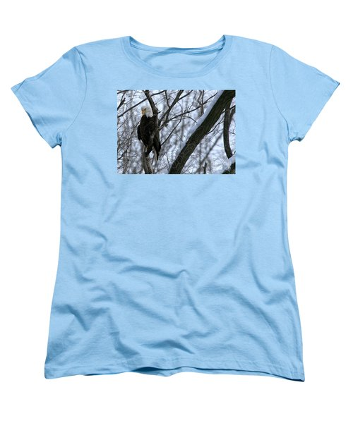 Women's T-Shirt (Standard Cut) featuring the photograph Starved Rock Eagle by Paula Guttilla