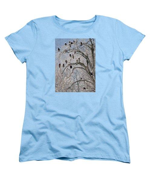 Women's T-Shirt (Standard Cut) featuring the photograph Starved Rock Eagles by Paula Guttilla
