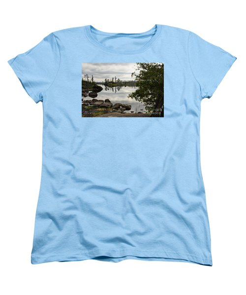 Women's T-Shirt (Standard Cut) featuring the photograph Steely Day by Larry Ricker