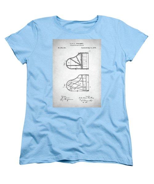 Steinway Grand Piano Patent Women's T-Shirt (Standard Cut) by Taylan Apukovska