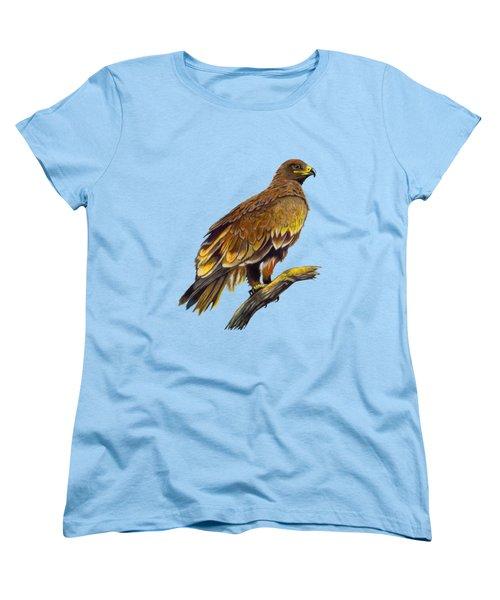 Steppe Eagle Women's T-Shirt (Standard Cut) by Anthony Mwangi