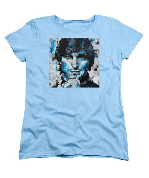 Women's T-Shirt (Standard Cut) featuring the painting Steve Jobs II by Richard Day