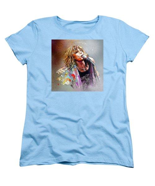 Steven Tyler 02  Aerosmith Women's T-Shirt (Standard Cut) by Miki De Goodaboom
