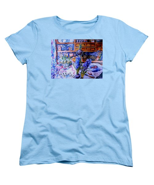 Still Life With Hyacinths  Women's T-Shirt (Standard Cut) by Trudi Doyle