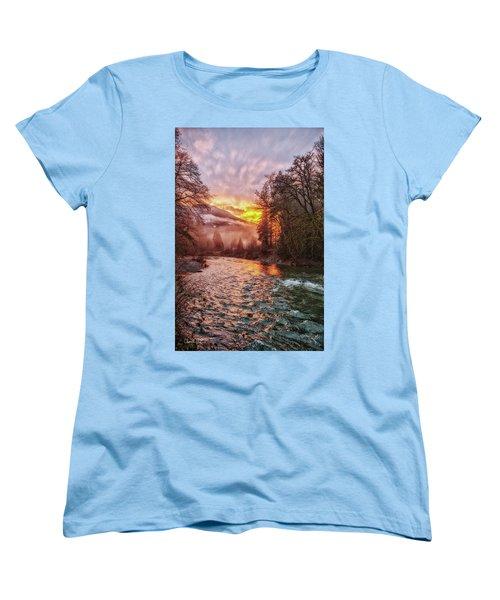 Stilly Sunset Women's T-Shirt (Standard Cut)