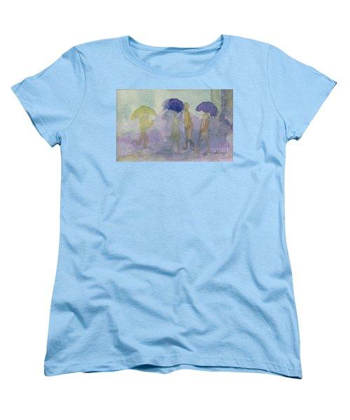 Stomping In The Rain Women's T-Shirt (Standard Cut) by Vicki  Housel