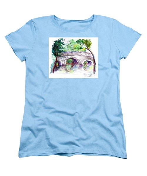 Stone Bridge In Early Autumn Women's T-Shirt (Standard Cut)