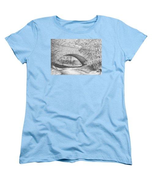 Stone Bridge Women's T-Shirt (Standard Cut) by Lawrence Tripoli