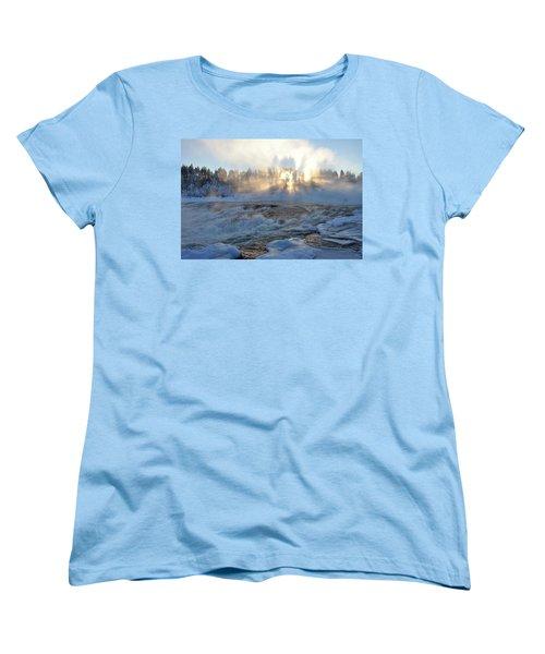 Storforsen, Biggest Waterfall In Sweden Women's T-Shirt (Standard Cut) by Tamara Sushko
