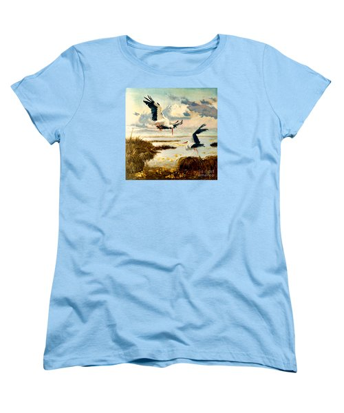 Storks II Women's T-Shirt (Standard Cut) by Henryk Gorecki