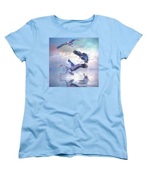 Storks Landing Women's T-Shirt (Standard Cut) by Brian Tarr