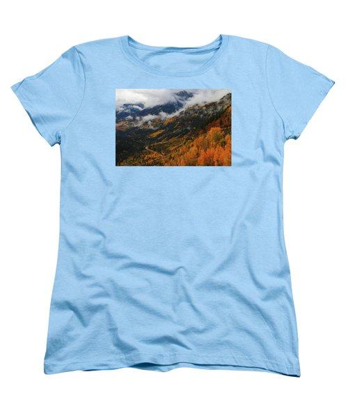 Storm Clouds Over Mcclure Pass During Autumn Women's T-Shirt (Standard Cut) by Jetson Nguyen